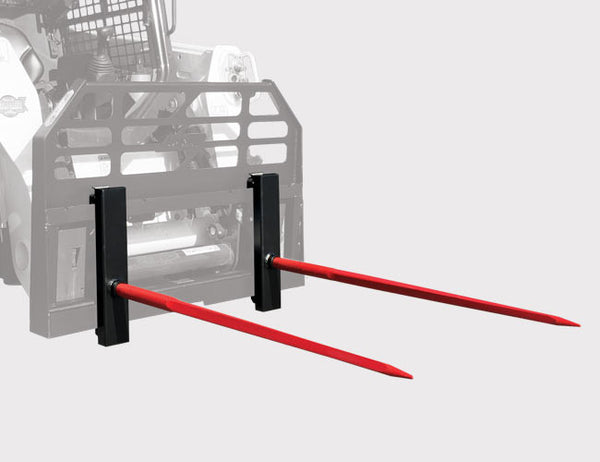 Upgrade your Himac Skid Steer Forks with a Hook-on Hay Spear