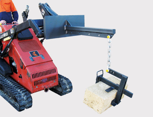 Himac Limestone Block Grab - suited for Skid Steer and Mini Loader Lifting Booms