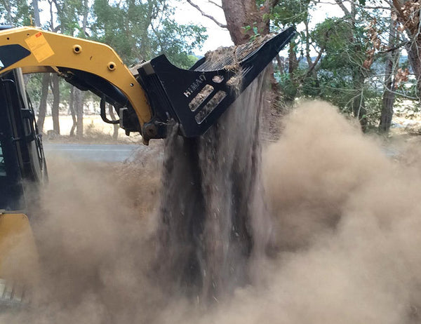 Incredible sifting ability - Rock Bucket for Skid Steers