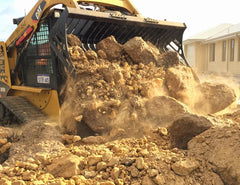Move large, heavy piles easily with the Himac Rock Bucket