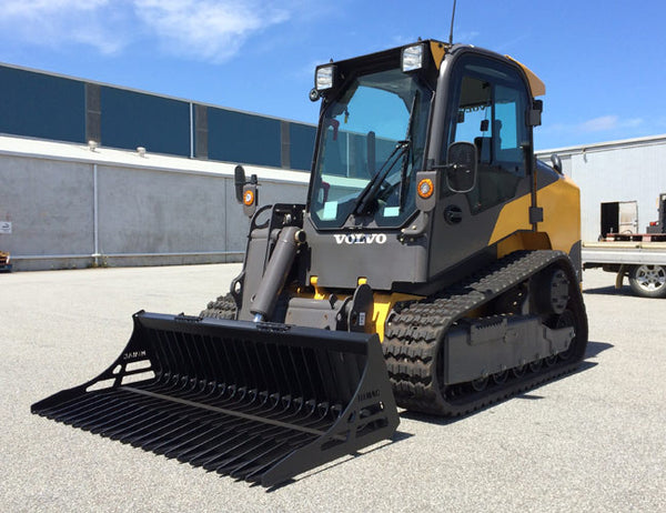 Himac Rock Bucket designed for all Skid Steers and Track Loaders