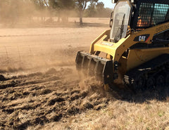 Utilise the Skid Steer Ripper for fire breaks - quick and easy