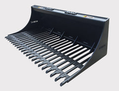 Extreme Duty model - Skid Steer Round Bar Rock Bucket