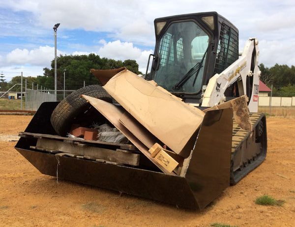 Himac Skip Bin Bucket designed for Skid Steer Loaders