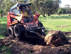 Remove tree stumps with your Skid Steer / Track Loader