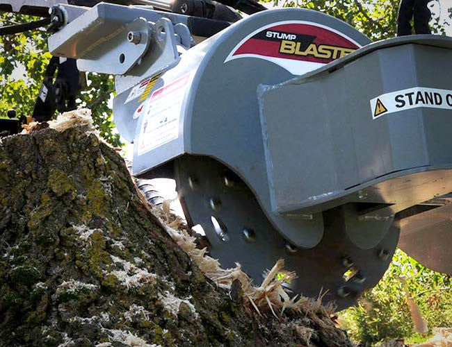 Himac Stump Grinder with direct flow hydraulic drive