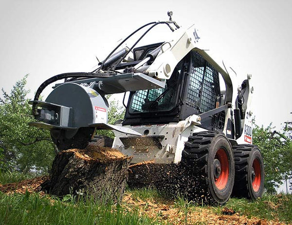 Grind stumps down to dust with this skid steer attachment