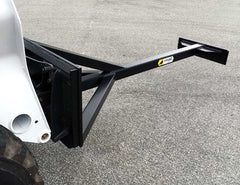 Universal skid steer mount as standard - Himac Scraper Attachment