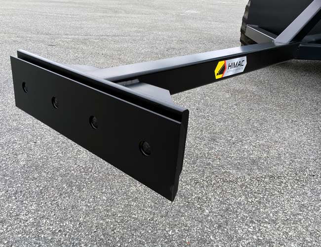 Under Conveyor Belt Scraper with replaceable bolt-on edge