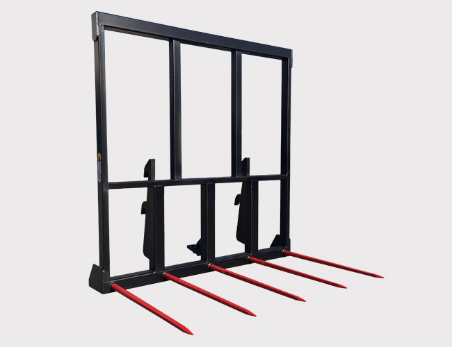 Telehandler 5 Spear Hay Forks from Himac Attachments