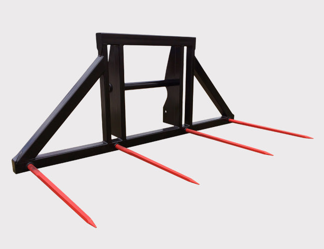 Double Round Bale Forks - Telehandler attachments from Himac