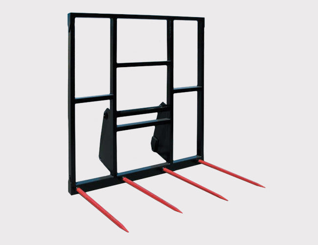 4 Spear Hay Forks for Telehandlers - 2100mm high back