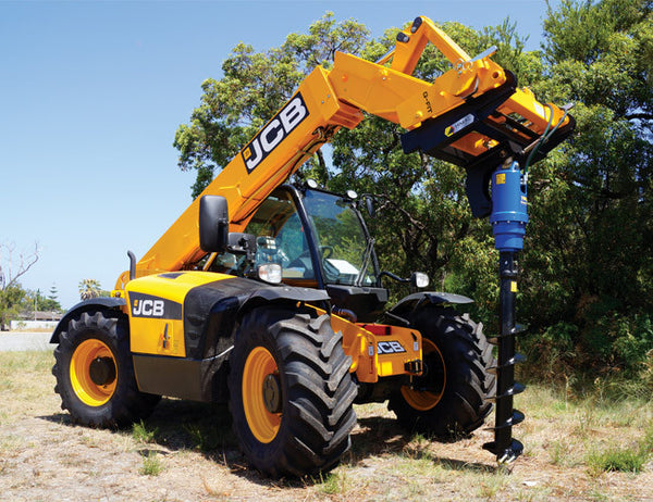 Telescopic Handler Post Hole Digger from Himac