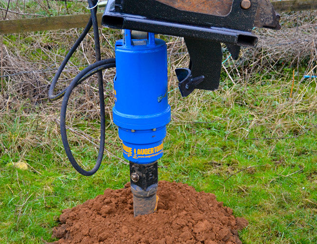 Himac Post Hole Diggers for Telehandlers and Ag Loaders