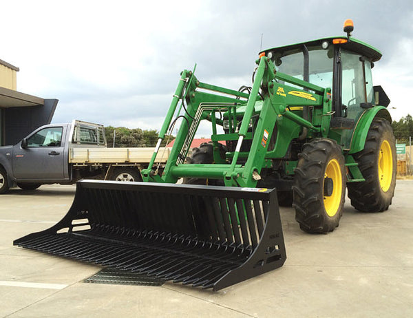 Rock Bucket designed for Tractor Loaders