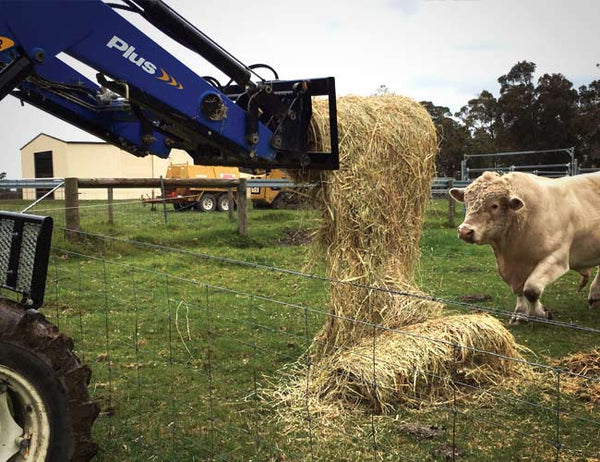 Feed over the fence with a Himac HaySpin Bale Spinner
