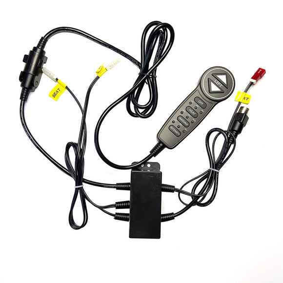 Electric Control Kit for Power Massage Recliners Including Remote Controller and Control Box