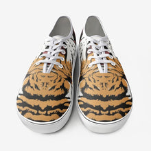 Load image into Gallery viewer, Tiger mouth canvas shoes, creative tiger shoes, tiger canvas shoes, tiger shoes,Unisex Canvas Shoes Fashion Low Cut Loafer Sneakers - Gadget.parts