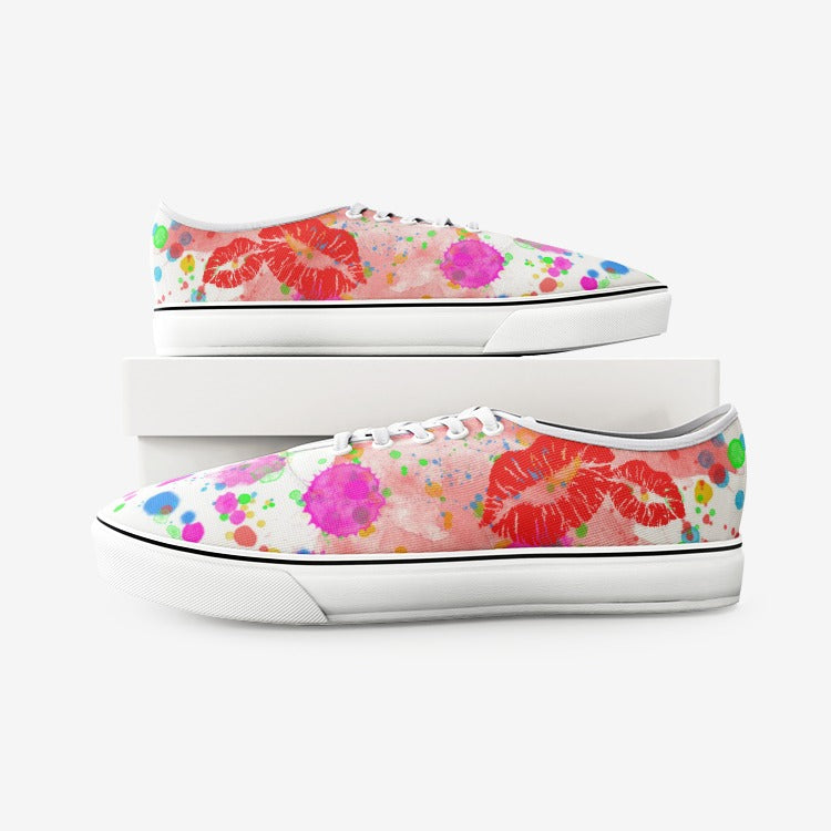 watercolor canvas shoes for teen, beautiful watercolor shoes for teenager,Unisex Canvas Shoes Fashion Low Cut Loafer Sneakers - Gadget.parts