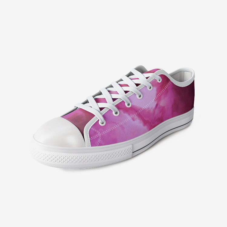 purple galaxy design art can vas shoes, purple Unisex Low Top Canvas Shoes - Gadget.parts