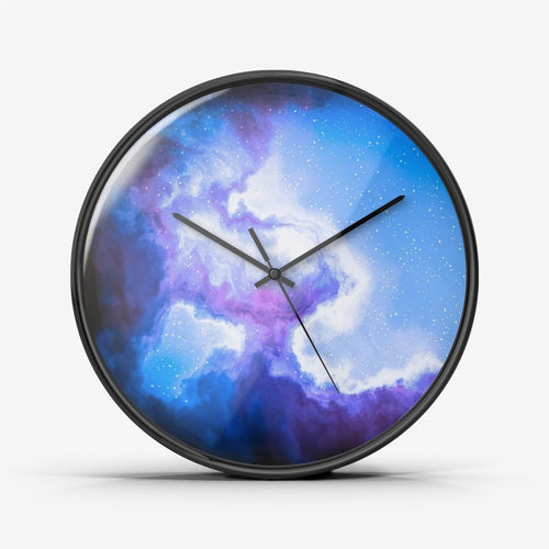 galaxy wall decor clock, Deep color galaxy Wall Clock Silent Non Ticking Quality Quartz,best gift for Astronomy enthusiast - Gadget.parts