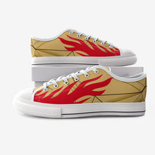 Load image into Gallery viewer, fire run canvas shoes , abstract design from wowbackpack | Unisex Low Top Canvas Shoes - Gadget.parts