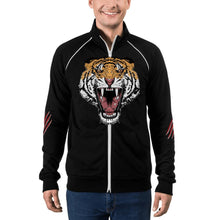 Load image into Gallery viewer, Tiger jacket, tiger Piped Fleece Jacket,mens tiger jacket - Gadget.parts