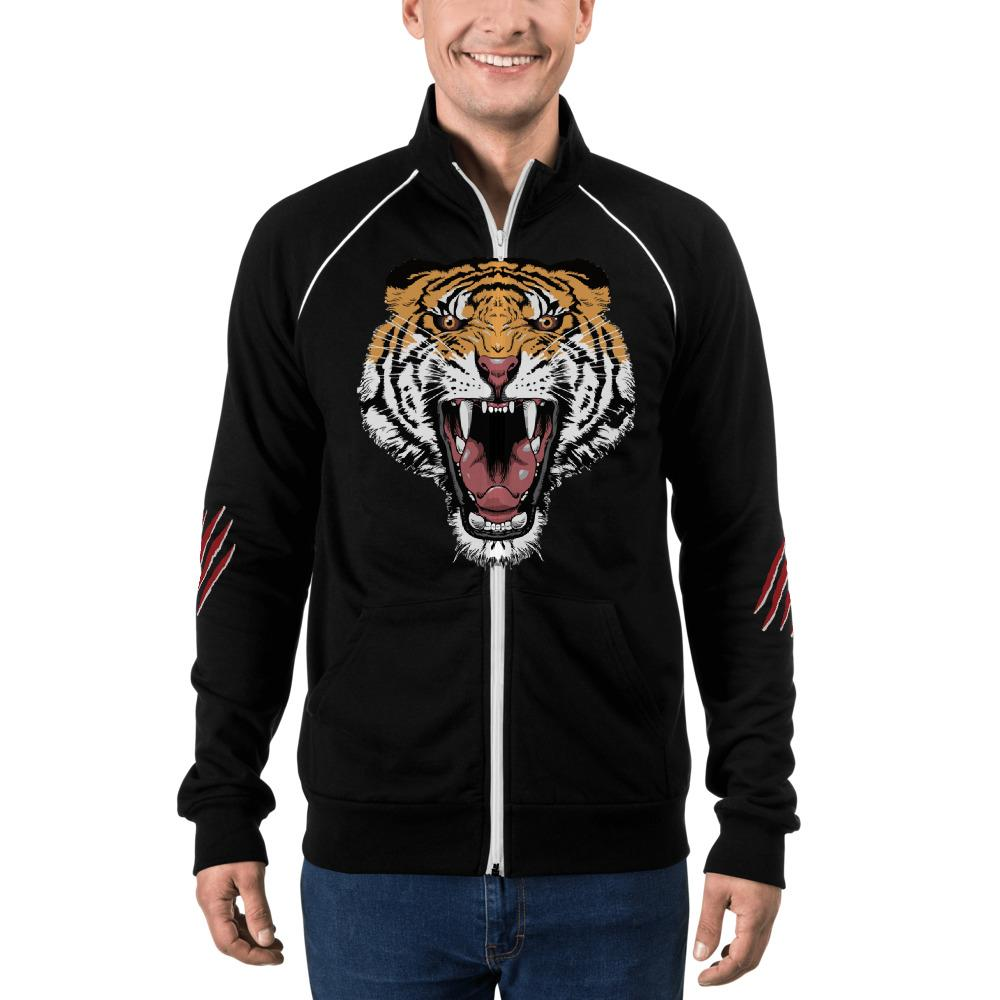 Tiger jacket, tiger Piped Fleece Jacket,mens tiger jacket - Gadget.parts