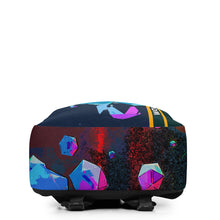 Load image into Gallery viewer, Color diamond schoolbag,15 inch 8-hedron 3d painted laptop bag, colorful Minimalist Backpack - Gadget.parts