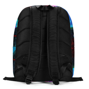 Color diamond schoolbag,15 inch 8-hedron 3d painted laptop bag, colorful Minimalist Backpack - Gadget.parts