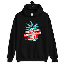 Load image into Gallery viewer, #StayTheF**kHome t-shirt hoodie,Stay The F**k Home to defence / fighting for COVID-19 street sweatshirt with Statue of Liberty Unisex Hoodie - Gadget.parts