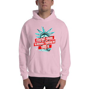 #StayTheF**kHome t-shirt hoodie,Stay The F**k Home to defence / fighting for COVID-19 street sweatshirt with Statue of Liberty Unisex Hoodie - Gadget.parts
