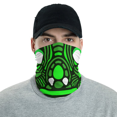 Green color Washable face shield and reusable face mask, Neck gaiter - free shipping - Gadget.parts