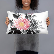 Load image into Gallery viewer, Chinese Guohua style decorative pillow, ink painting style pillow, chrysanthemum Chinese painting pillow, Chinese Guohua style Pillow - Gadget.parts