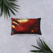 Load image into Gallery viewer, deep Colored body painted pillow, cyberpunk style pillow, cyberpunk interior design decorative pillow Basic Pillow - Gadget.parts