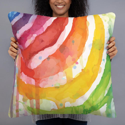 Watercolor digital painting color zebra striped pillow throwpillow for home decoration - Gadget.parts
