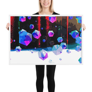 3d digital oil design Framed poster for home decoration and moving new house gift for your friend - Gadget.parts
