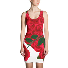 Load image into Gallery viewer, Valentine's Day present - Rose means I Love You- girlfriend/Fiancee/wife gift on Valentine's Day -Sublimation Cut & Sew Dress - Gadget.parts