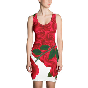 Valentine's Day present - Rose means I Love You- girlfriend/Fiancee/wife gift on Valentine's Day -Sublimation Cut & Sew Dress - Gadget.parts