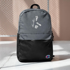 Embroidered Bruce Lee kong fu  fans Backpack - Gadget.parts