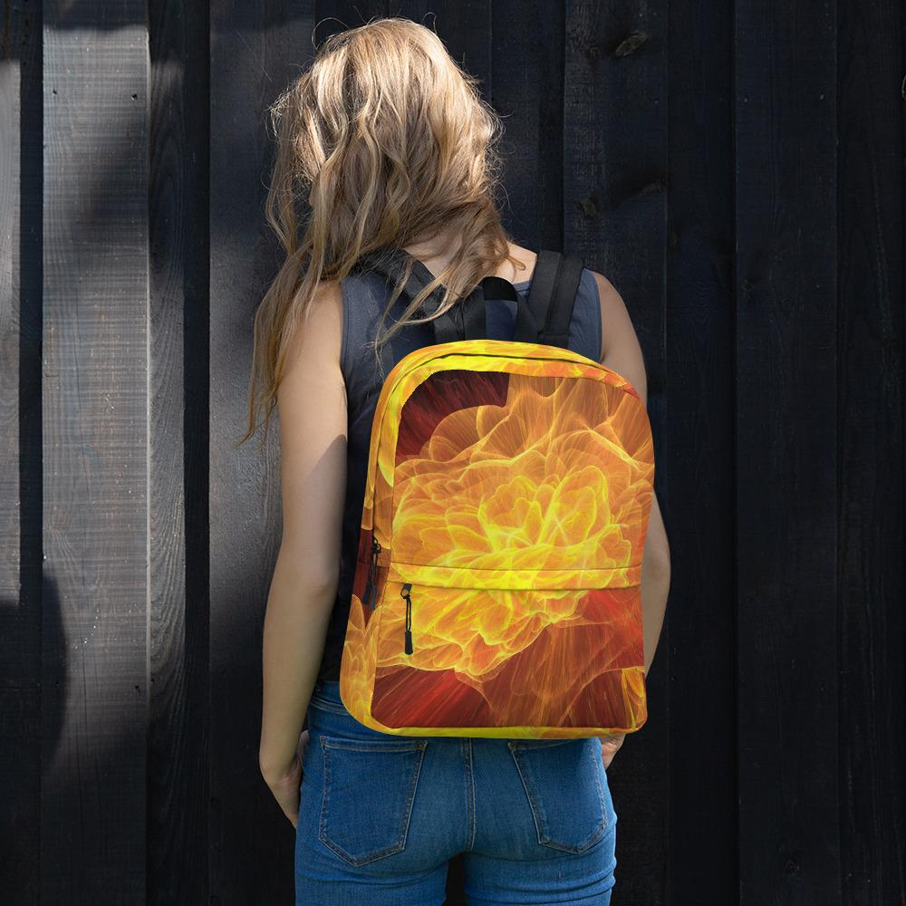 Fireworks flower fractal art design Backpack for High school student, College Students Backpack - Gadget.parts