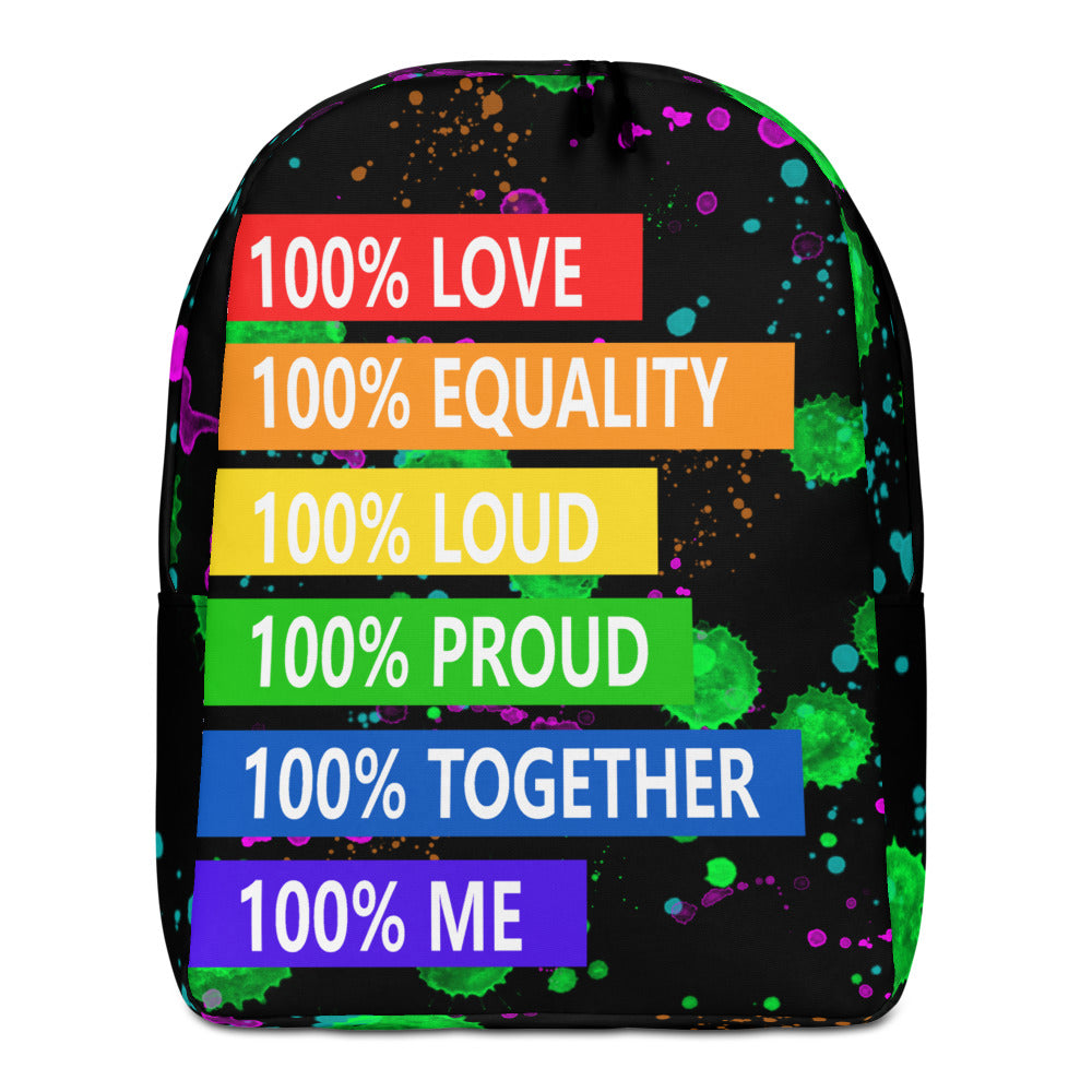 100% love laptop bag, 100% together backpack,100% loud school bag, Internet celebrity 15 inch backpack, KOL Minimalist Backpack - Gadget.parts