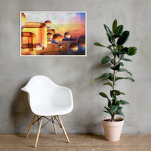 Load image into Gallery viewer, 3d wall decor poster, 3d digital oil painting design glass ball and box abstract home decor design Framed poster - Gadget.parts