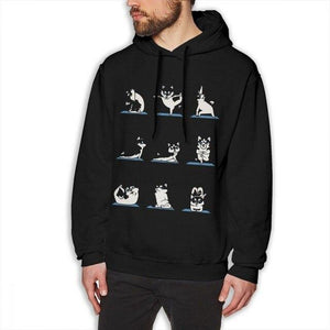 funny Dog Yoga Sweatshirt for men and women who own a cute dog gift on birthday - Gadget.parts