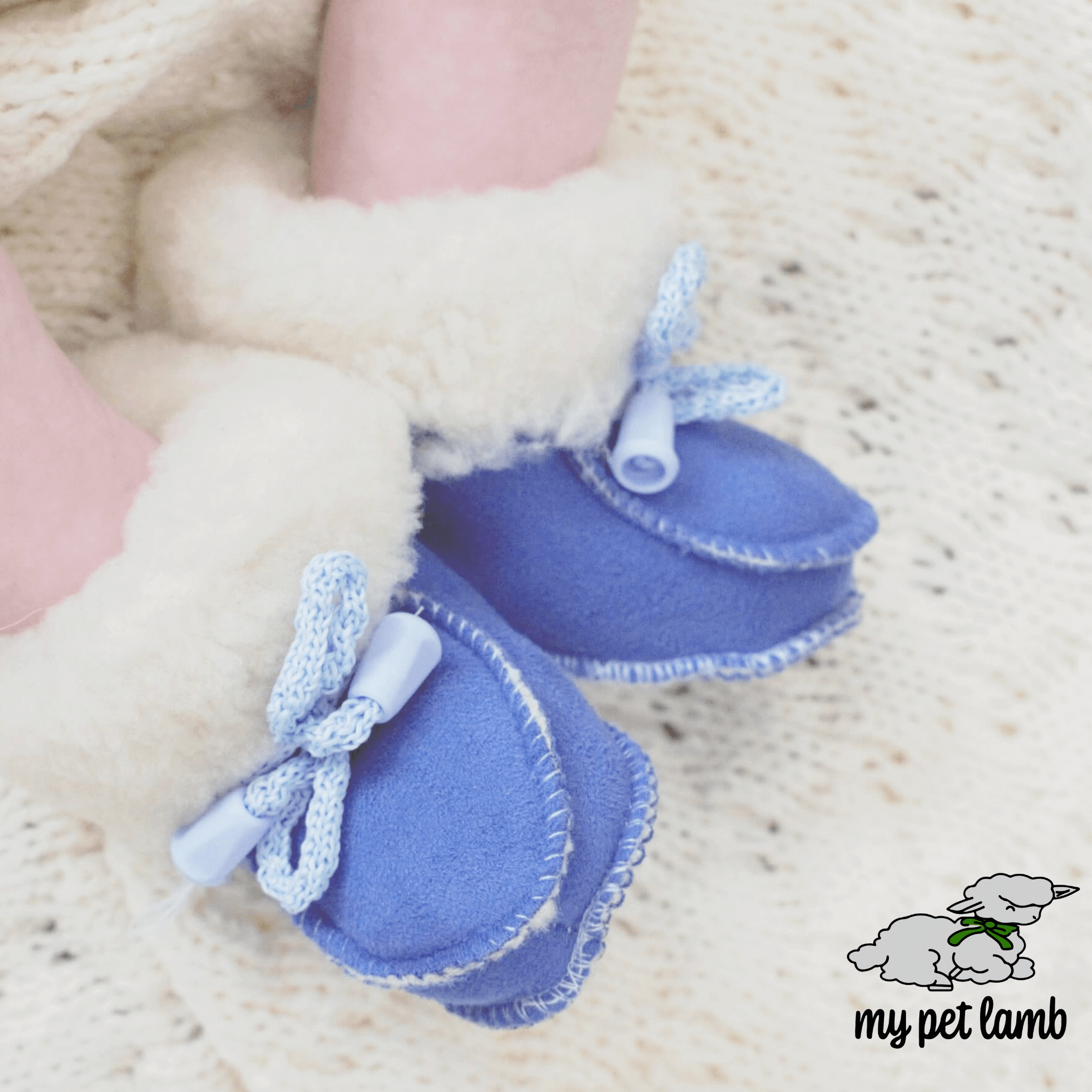 Blue Wool Booties
