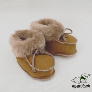 Natural Wool Booties