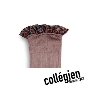Collégien Elisabeth Liberty Print Ribbed Socks - Praline