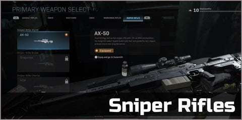 Sniper Rifles Gold - Squad Boosting