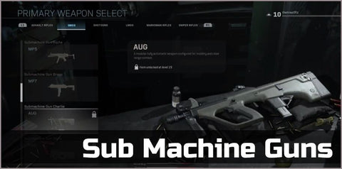 Sub Machine Guns Gold - Squad Boosting