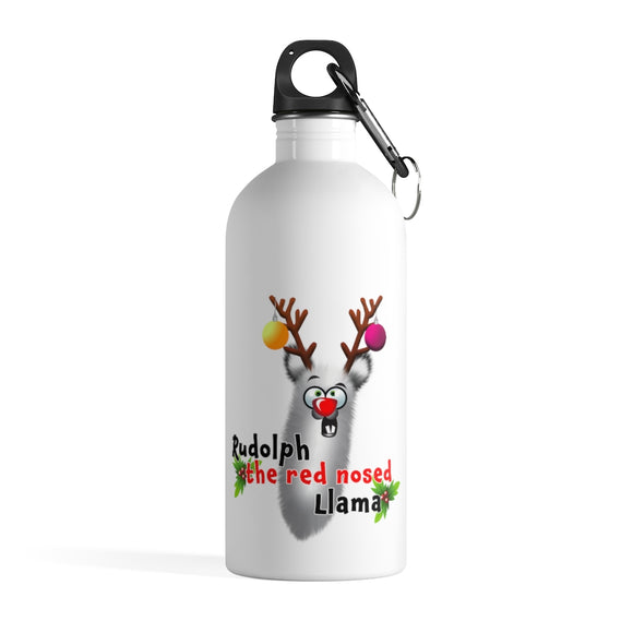Rudolph; Stainless Steel Water Bottle